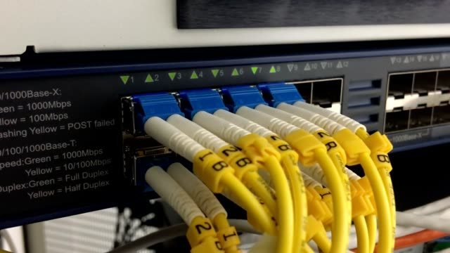 Network line in front of the control room.