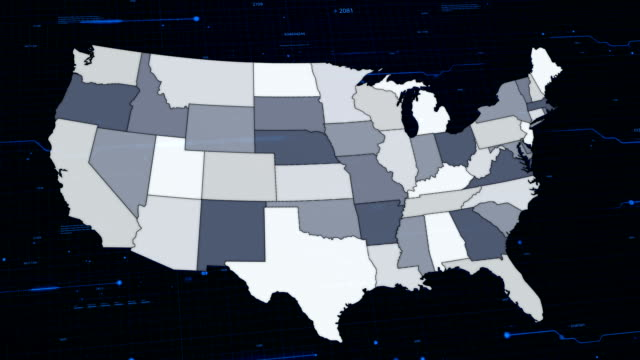 USA network mapa - vídeo