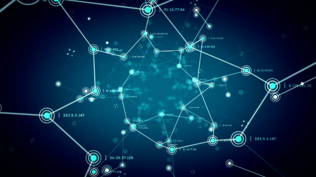 Network Nodes Blue video