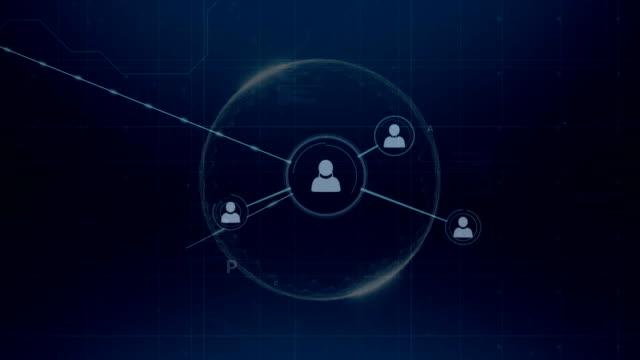 vídeos de stock e filmes b-roll de network of connections and data processing - funcionamento em rede