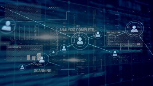 vídeos y material grabado en eventos de stock de red de conexiones y procesamiento de datos - visualizador digital