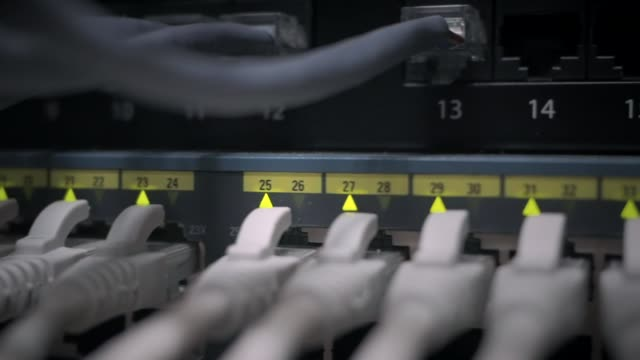 Network panel switch with led flashing video