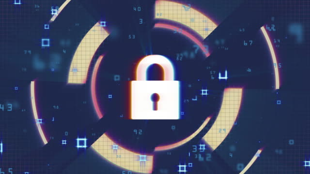 network security, cyber security, digital protection, computer hack background - шифрование стоковые видео и кадры b-roll