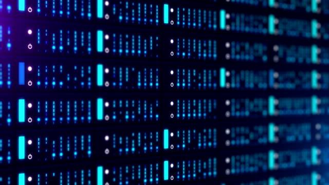 stockvideo's en b-roll-footage met de gegevens van de server van het netwerk - datacenter
