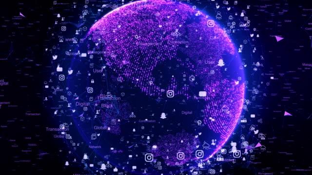 nätverksteknik och digital jorden karta 4k - jorden nyheter bildbanksvideor och videomaterial från bakom kulisserna