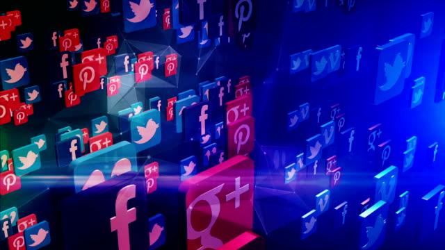Network Social Network, social media, marketing, internet concept. multimedia stock videos & royalty-free footage
