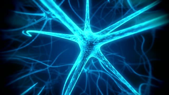 Neuron mediacal loopable animation video