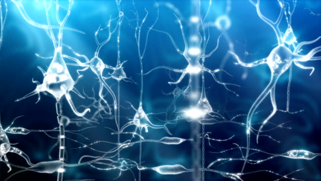 Neuronal Activity Zoom Blue video