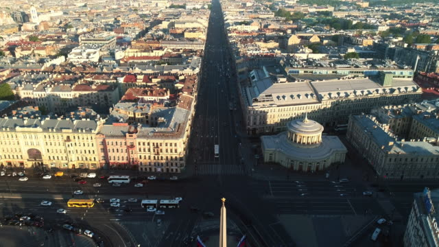 nevskiy prospect in early morning - treedeo saint petersburg stock videos & royalty-free footage