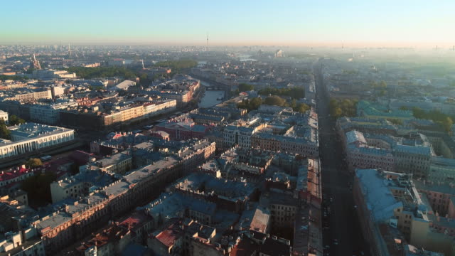 Nevsky Prospect from roof top Nevsky Prospect from roof top treedeo saint petersburg stock videos & royalty-free footage