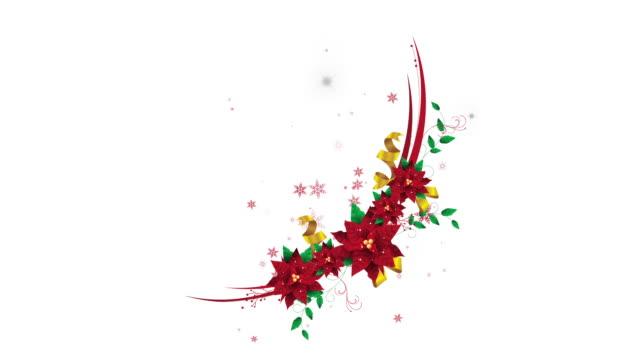 vídeos de stock e filmes b-roll de new beautiful christmas wreath animation - baga