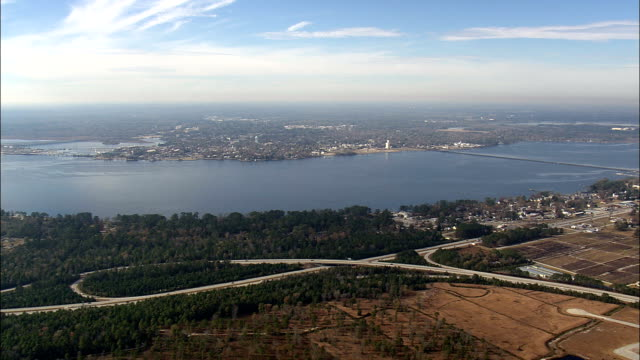 New Bern  - Aerial View - North Carolina,  Craven County,  United States video