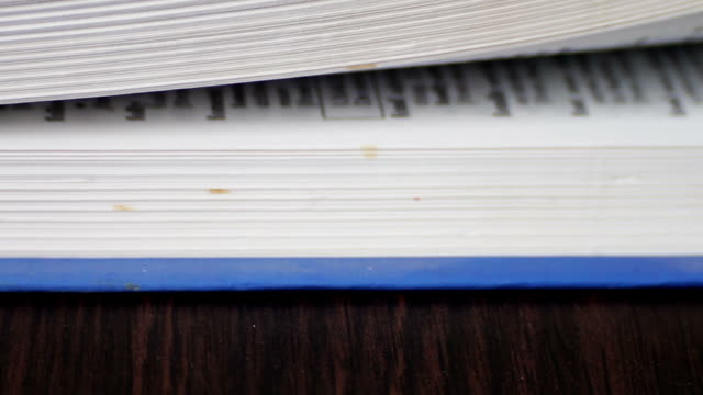 New Book pages turning, leafing and book video