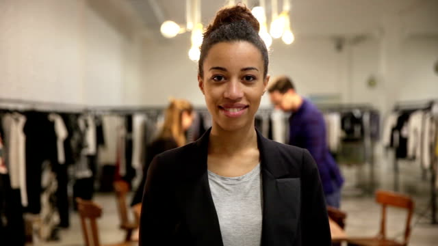 New Business employee of a clothing store video