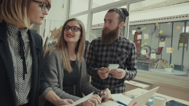 New business teamwork in the startup office video