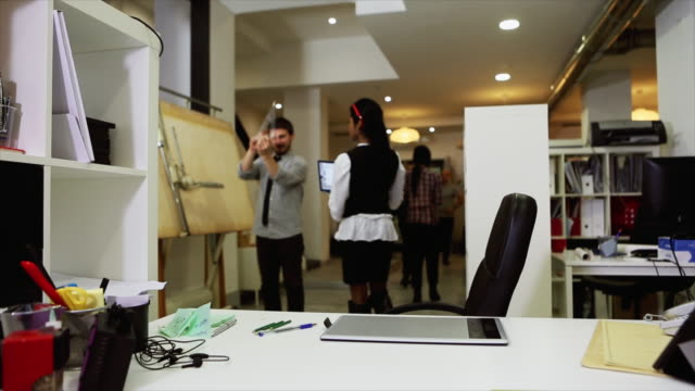 new business timelapse: at work together in the startup office - поститься стоковые видео и кадры b-roll