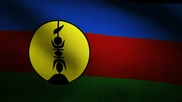 New Caledonia flag video