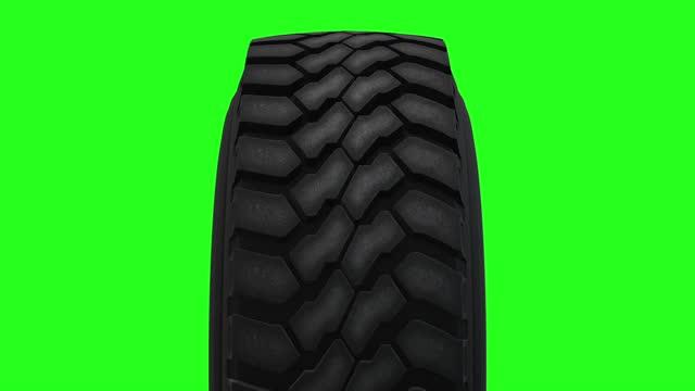 rotazione della ruota dei pneumatici delle nuove auto - truck tire video stock e b–roll