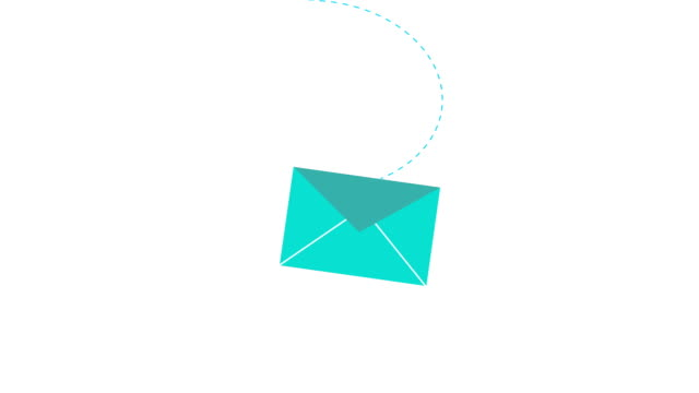 New email 2d animation for mail message app or web New incoming mail concept 2d animation of email icon opening. Message envelope symbol for app ui, business mailing or internet site motion graphic 4k footage. email icon stock videos & royalty-free footage