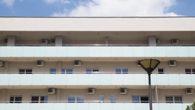 new government social apartment building block - ocean front properties stock videos & royalty-free footage