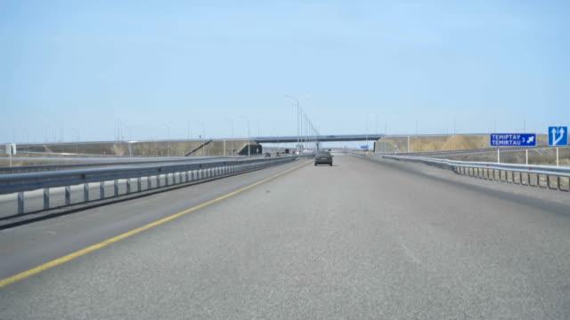 在哈薩克斯坦的新公路 - 亞洲中部 個影片檔及 b 捲影像