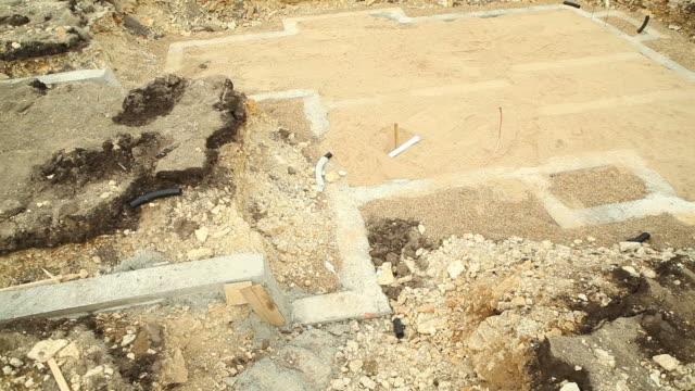 Neues Zuhause-Konstruktion Untergeschoss konkrete Grundlagen Fundament – Video