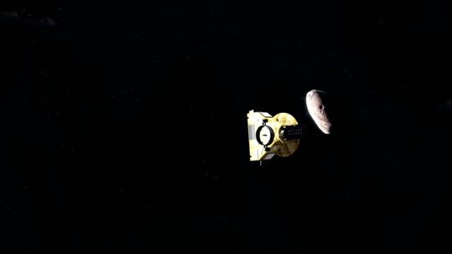 new horizons approaching 2014 mu69 - badawczy statek kosmiczny filmów i materiałów b-roll