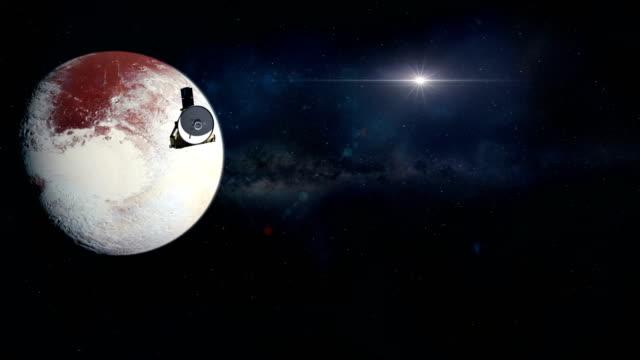 new horizons leaving pluto - badawczy statek kosmiczny filmów i materiałów b-roll