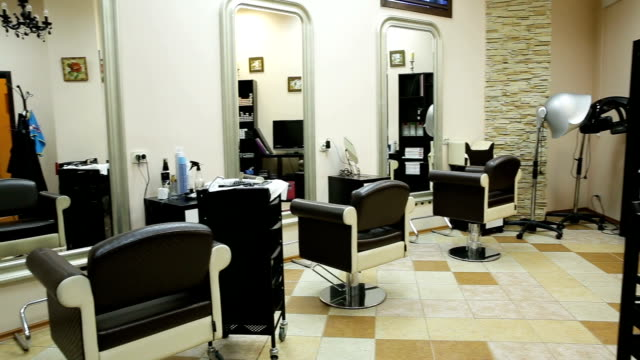 New interior of european beauty salon video