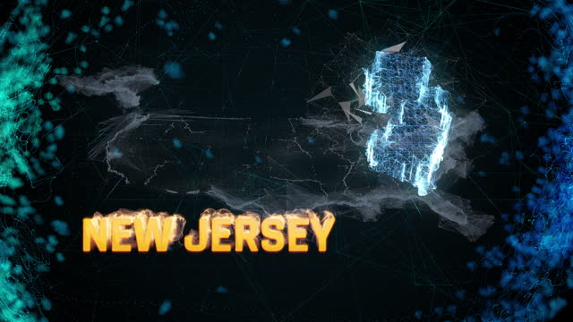 New Jersey US federal state border map, news events, exit polls, sightings