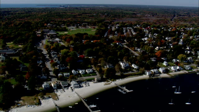 New London Connecticut - Aerial View - Connecticut,  New London County,  United States video