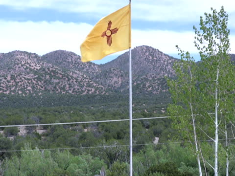 New Mexico Flag, Wide Shot video