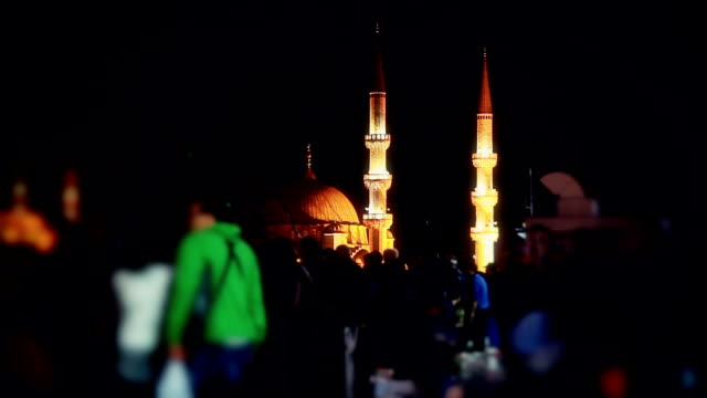 hd: new mosque; walking across galata bridge - ramadan stock videos and b-roll footage