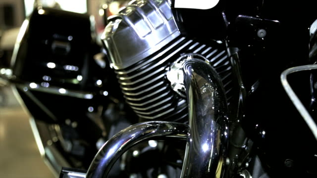 New motorcycle with engine chromed video