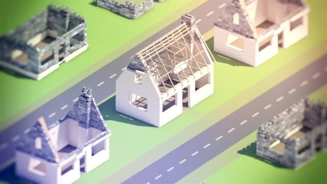 vídeos de stock, filmes e b-roll de um novo bairro em construção - nova casa