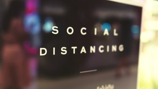 New Normal : Social Distance Global Healthcare covid icon stock videos & royalty-free footage