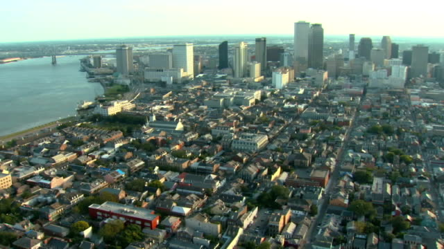 New Orleans French Quarter Aerial video