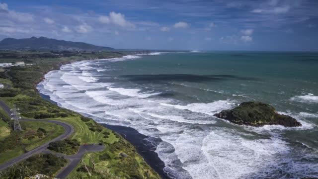 new plymouth coast timelapse - new plymouth filmów i materiałów b-roll