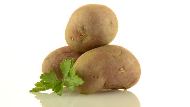 new potato tuber - молодой картофель стоковые видео и кадры b-roll