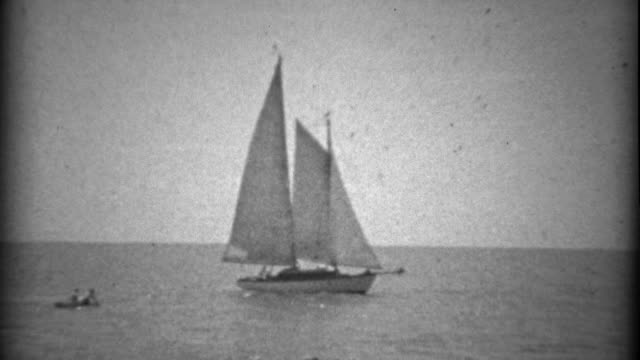 1934: New sailboat yacht technology enters the arena of sailing. video