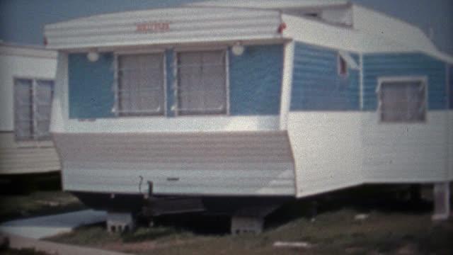 CHESAPEAKE BAY, MARYLAND 1966: New trailer park subdivision near the beach and summer sun. video