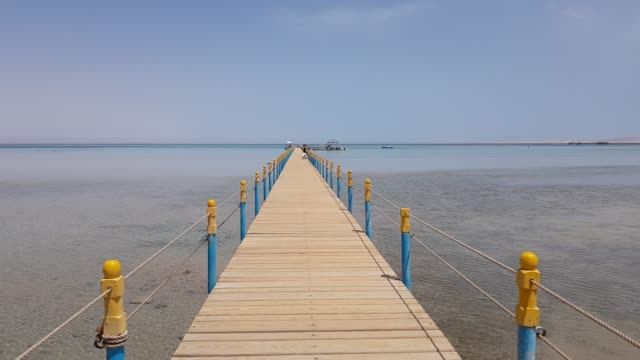 new wooden pier on the sea