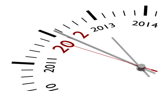 New year 2013 in a clock