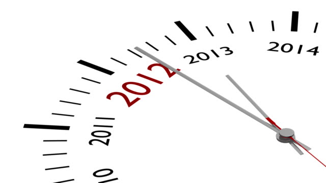 New year 2013 in a clock with alpha mask