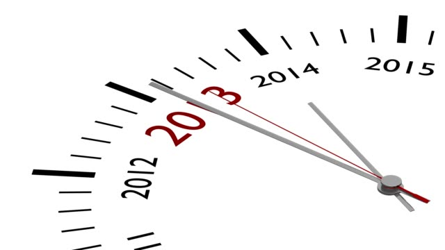 New year 2014 in a clock video