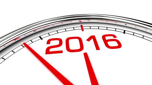 nytt år 2016 klocka (med matt) - 2015 bildbanksvideor och videomaterial från bakom kulisserna