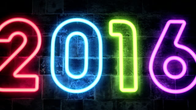 new year 2016 Neon Light video