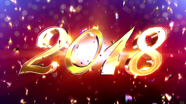 New Year 2018 Animation video