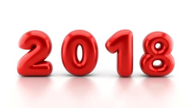 vidéos et rushes de nouvel an 2018 ballons falling down - 2018