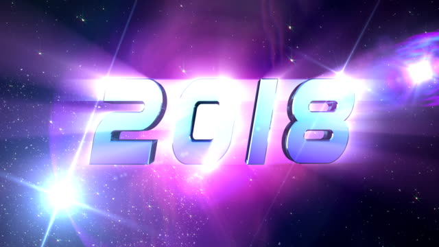 New Year 2018 Countdown Animation video